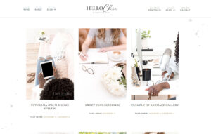 hello chic feminine wordpress theme